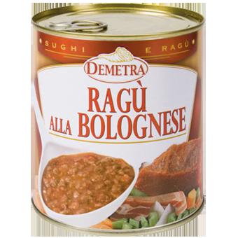 RAGU' ALLA BOLOGNESE GR.830 IN LATTA - Demetra
