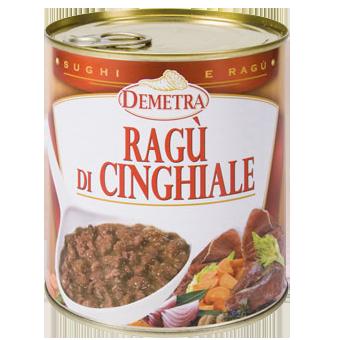 RAGU' DI CINGHIALE GR.820 IN LATTA - Demetra