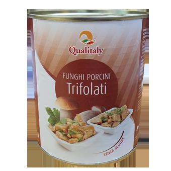 "PORCINI TRIFOLATI ""QUALITALY"" GR.800 LATTA -"