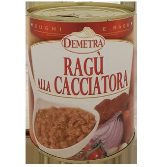 """RAGU' ALLA CACCIATORA IN LATTA GR.840 """"DEMETRA"""" - Demetra"""
