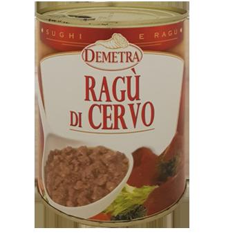 """RAGU' DI CERVO IN LATTA GR.820 """"DEMETRA"""" - Demetra"""