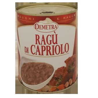 """RAGU' DI CAPRIOLO IN LATTA GR.820 """"DEMETRA"""" - Demetra"""