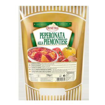 PEPERONATA ALLA PIEMONTESE GR.700 IN BUSTA - Demetra