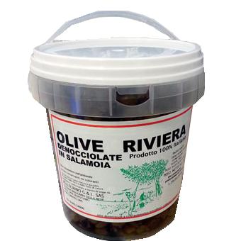 OLIVE NERE TIPO RIVIERA KG.2 PELLEGRINO             -