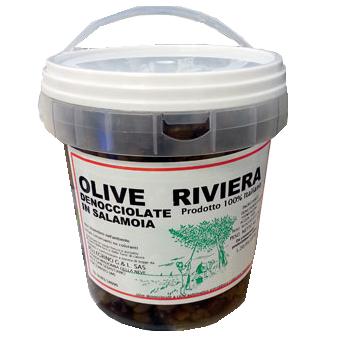 OLIVE NERE SNOCCIOLATE TIPO RIVIERA KG.2 -