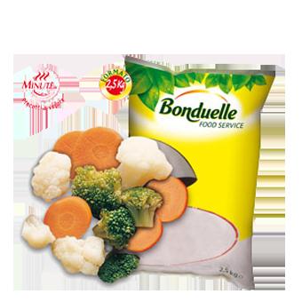 CONTORNO TRICOLORE PRECOTTO A VAPORE BONDUELLE KG.2,5 - Bonduelle