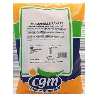MOZZARELLE PANATE PREFRIT.KG.1(66 PZ x BS GR.15 CAD.) -
