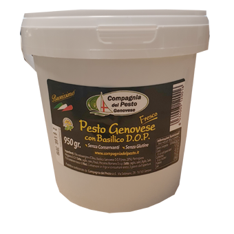 "PESTO GENOVESE GR.950 ARTIGIANALE ""CONSORZIO PRODUTTORI PESTO GENOVESE"" - Compagnia del Pesto Genovese"